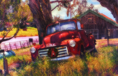 barns of sonoma holiday card